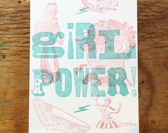 Girl Power Letterpress Print