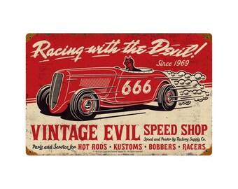 Vintage Evil Racing Devil