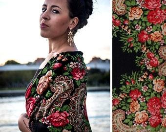 Black shawl 150cmx150cm