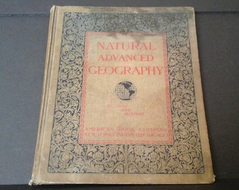 1901 Geography Book, Antique Natural Advanced Geography, Redway and Hinman, Ohio Edition