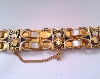 Toledo & mother of pearl bracelet