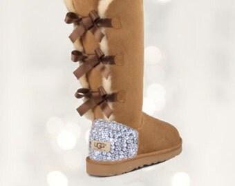 UGG Bailey Bow Swarovski Bling Tall Boot - Chestnut
