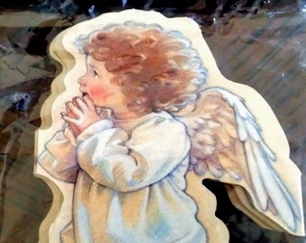ANGEL CHILDREN Christmas Tree GARLAND Decoration (8 Ft long-40 Angels) Artist Kathy Lawrence Mint Condition / Sealed Rare! Shackman Co.