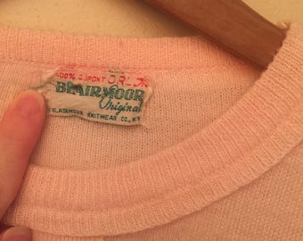 Baby Pink 1950's Cashmere Sweater