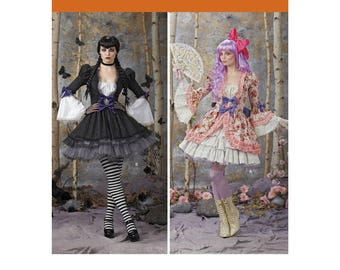Simplicity sewing pattern 1300 K Rescent Costumes Gothic & Lolita dress cosplay anime manga character misses' sizes 6-12 UNCUT