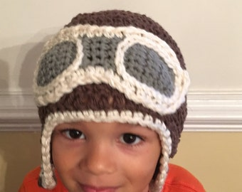 Aviator hat, pilot hat, steampunk hat, toddler hat