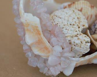 Rose Quartz Bracelet, Quartz Bracelet, Stone Bracelet, Earth