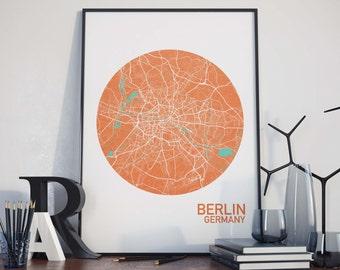 Berlin, Germany City Map Print