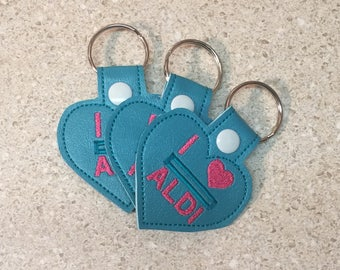 Set of three, ready to ship, Key fob, quarter keeper, quarter keeper keychain, Set of three quarter keeper key fob