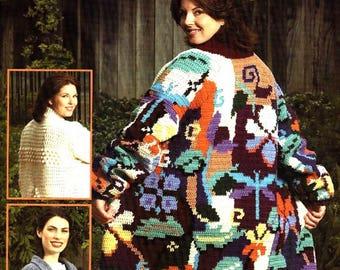 Crochet coats Pdf file Coat of many stiches Coat of many color