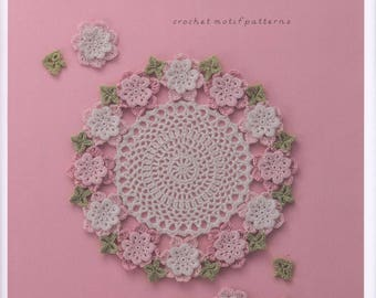 Crochet Motif Patterns Applique pineapple Crochet flower book Lace floral applique Оapanese crochet book lacework