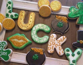 St. Patrick's Day Lucky Cookies - for One Dozen (plus extra coins)