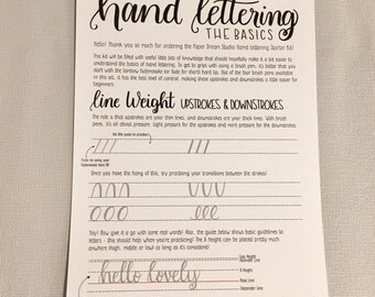 Hand Lettering Worksheets - digital download