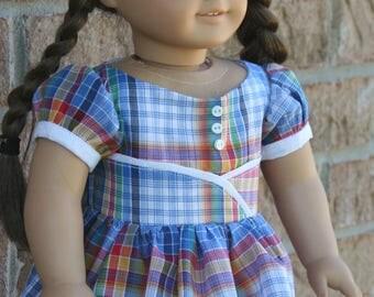 18 Inch Doll Clothes, Retro, 1950's Dress, OOAK Fabric Choice.