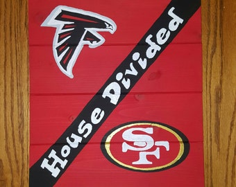 House Divided Falcons/49ers Sign