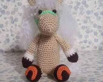 Amigurumi Horse crochet horse cute horse softie crochet animal plush children's toy crochet horse softie handmade home décor key chain