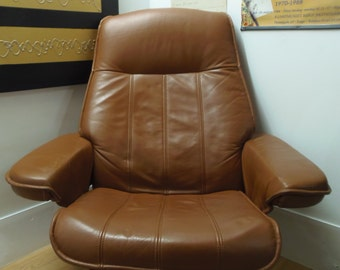 Danish Leather Reclining Chair