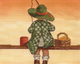Counted Cross Stitch Kit Fishing
