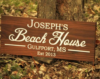 Custom Wooden Sign Custom Wooden House Sign Custom Outdoor Wooden Name Sign, Outdoor Name Sign, Custom Wooden Signs House Name Signs