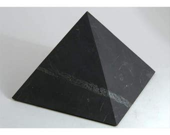 "Shungite Pyramid 1,97""  Stone Top Quality Gemstone EMF Protection Home Decor Gift Decoration Crafts  Chakra Healing Crystal Reiki"