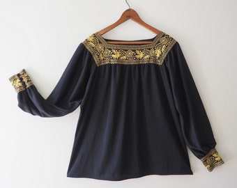 Gold Embroidered Top