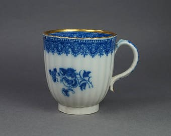 Antique 18th Century English Blue and White Transferware Pearlware Cup Circa 1780 Georgian AF