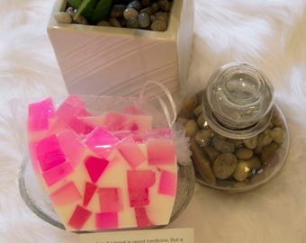 Love - Pink & White Handcrafted Glycerin Soap