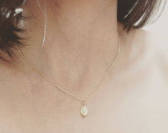 Gold Plated Mini Leaf Necklace