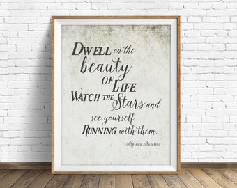 """quotes, inspirational quote, quote prints, instant download art, printable art, instant download prints, rustic art  - """"The Beauty of Life"""""""