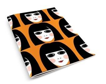 60s Girl A5 Notebook Sketchbook Retro Mod