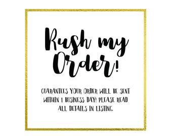 RUSH Order Fee / Digital Invitation Add On - Please read all details in description