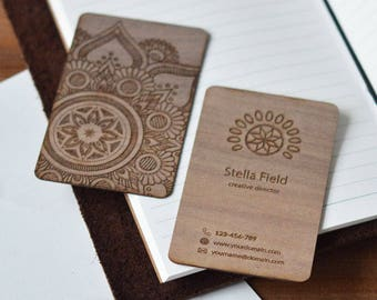 Business Card - Custom business card - Unique Business Cards - wooden Business Card - Personalised Business Cards