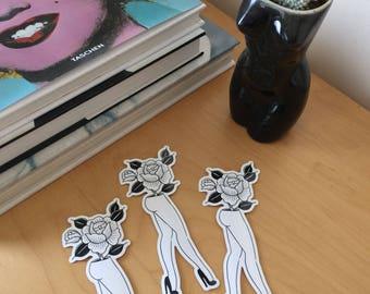 Lady vase sticker