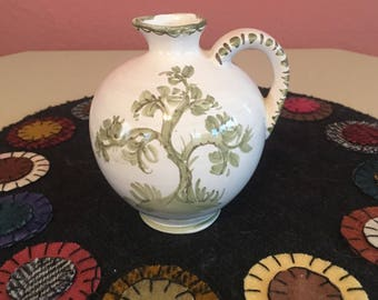 Vintage Small Pitcher with Tree Design