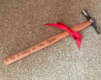 personalised Valentine's Day Gift for him hammer