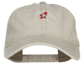 Mini Rocket Embroidered Washed Cap