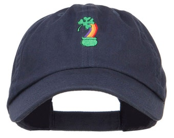 Clover Rainbow Embroidered Low Cap