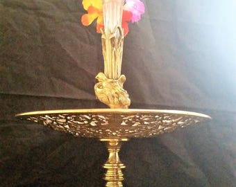 Coalbrookdale Superb and Extremely Rare Victorian Solid Bronze Tazza / Epergne. circa 1850. 20% off!