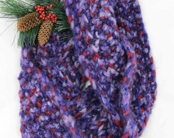 Purple and Maroon Infinity Scarf