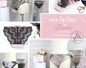 Digital Lingerie Sewing Pattern - The Frankie Panties - Evie la Luve