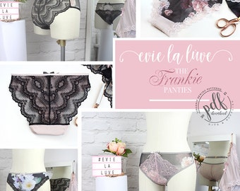 Digital Lingerie Sewing Pattern - The Frankie Panties - Evie la Luve