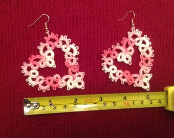 Valentine's Day Heart Pink Earings