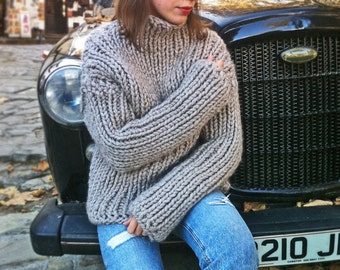NEW Super Chunky Sweater, Wool Sweater, Alpaca Sweater, Knit Sweater, Chunky Sweater, Chunky knits, Winter Sweater