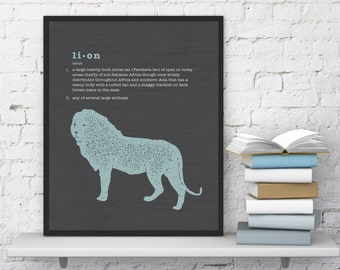 Lion Modern Art Print, Instant Download, Printable, 8x10
