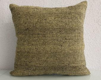 Overdyed Kilim Pillow Throw Pillow 20x20 Turkish Handmade Pillows Bed Pillow Throw Pillow 692