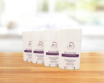 Dry Skin Body Butter Bar - Organic Lotion Bar - Shea Butter Body Lotion - BLACK CURRENT VANILLA