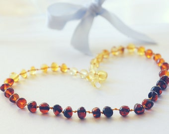Baby Shower Gift, Baby Amber Necklace, Baltic Amber Baby, Amber Necklace, Baby Natural Amber, Baby Teething Amber, Child Amber Necklace