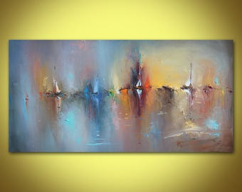 Large Wall Art, Abstract Art, Original Oil Painting, Landscape, Abstract Seascape, Large wall Decor, Original Art, Contemporary  Canvas Art