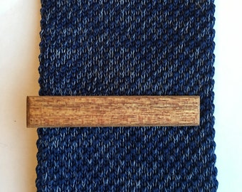 Sapele Wood Tie Clip - wooden tie clip - tie clip - tie - wedding accessories  - groomsmens gift - groom