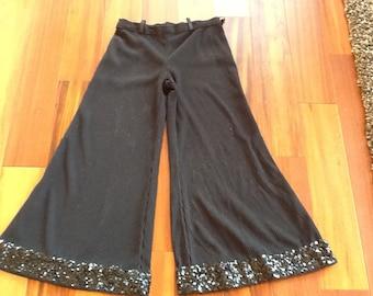 1960's-1970's BLACK BELL BOTTOMED Pants